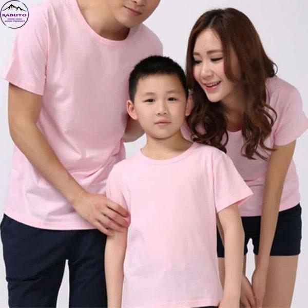 Áo thun Kabuto màu hồng cho gia đình