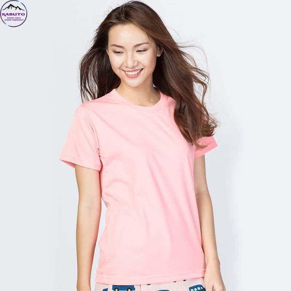 Áo thun trơn màu hồng cho nữ