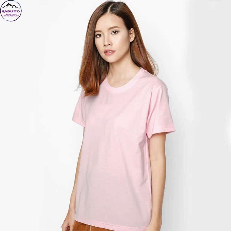 Áo thun nữ hồng trơn