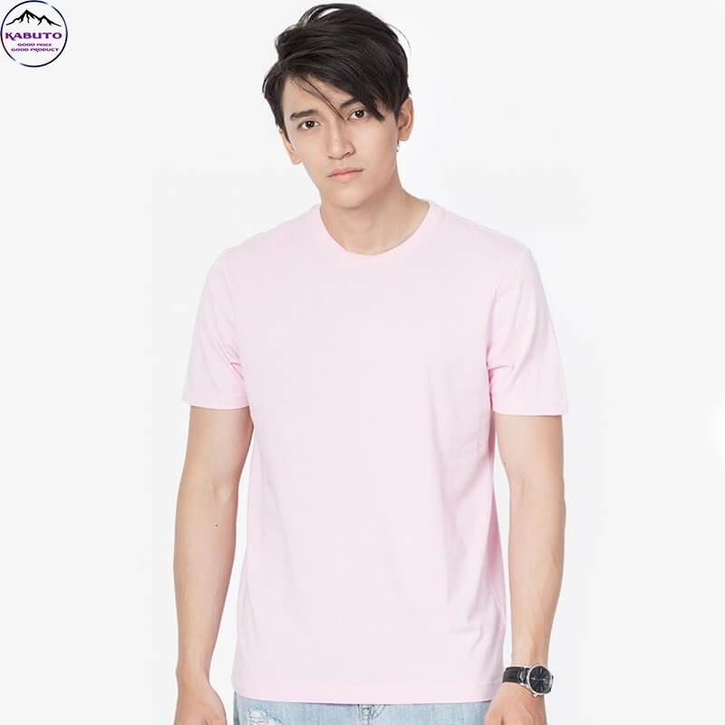 Áo thun nam màu hồng trơn