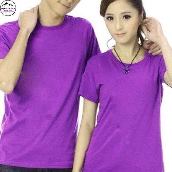 Áo thun trơn màu tím cho cặp đôi