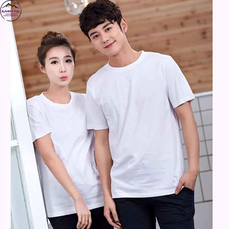 Áo thun trắng trơn dành cho cặp đôi