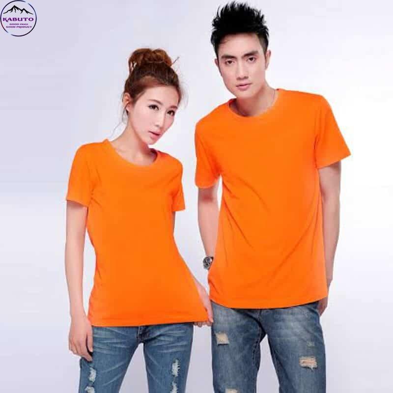 Áo thun màu cam trơn cho cặp đôi