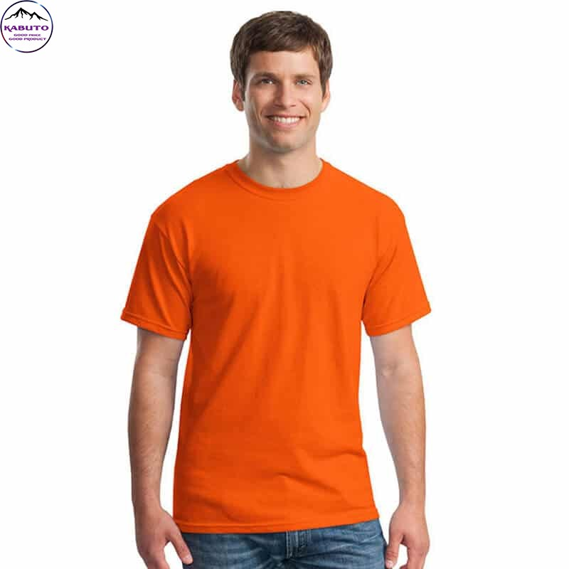Áo thun nam trơn màu cam Kabuto