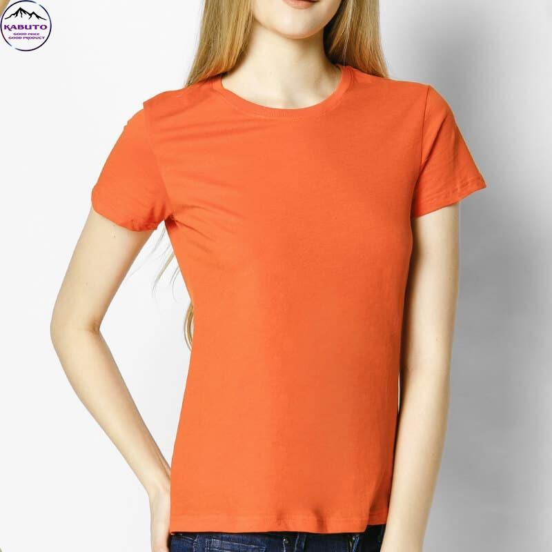 Áo thun trơn màu cam cho nữ
