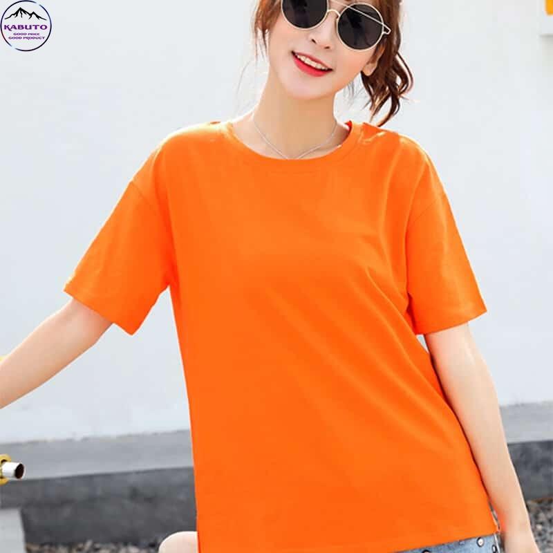Áo thun trơn Kabuto màu cam cho nữ