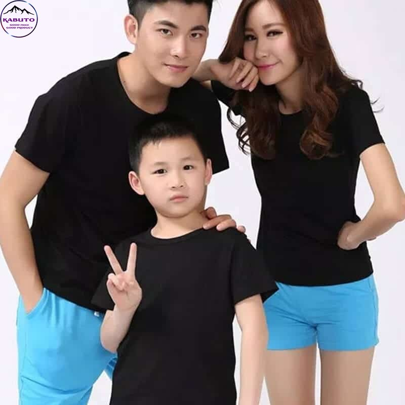Áo thun gia đình màu đen trơn