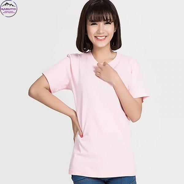 Áo thun nữ trơn màu hồng