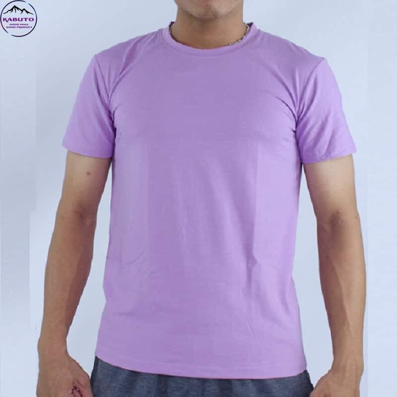 Áo thun trơn màu tím cho nam