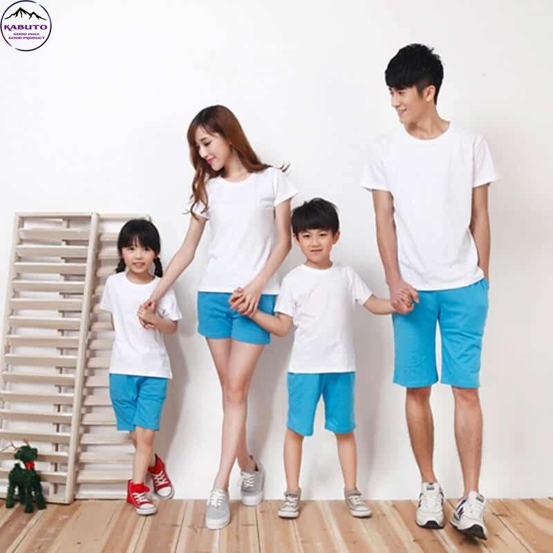 Áo thun màu trắng dành cho gia đình