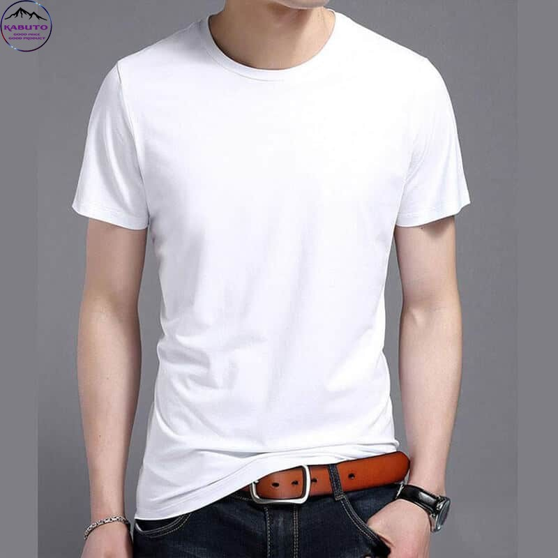 Áo thun trơn màu trắng cho nam