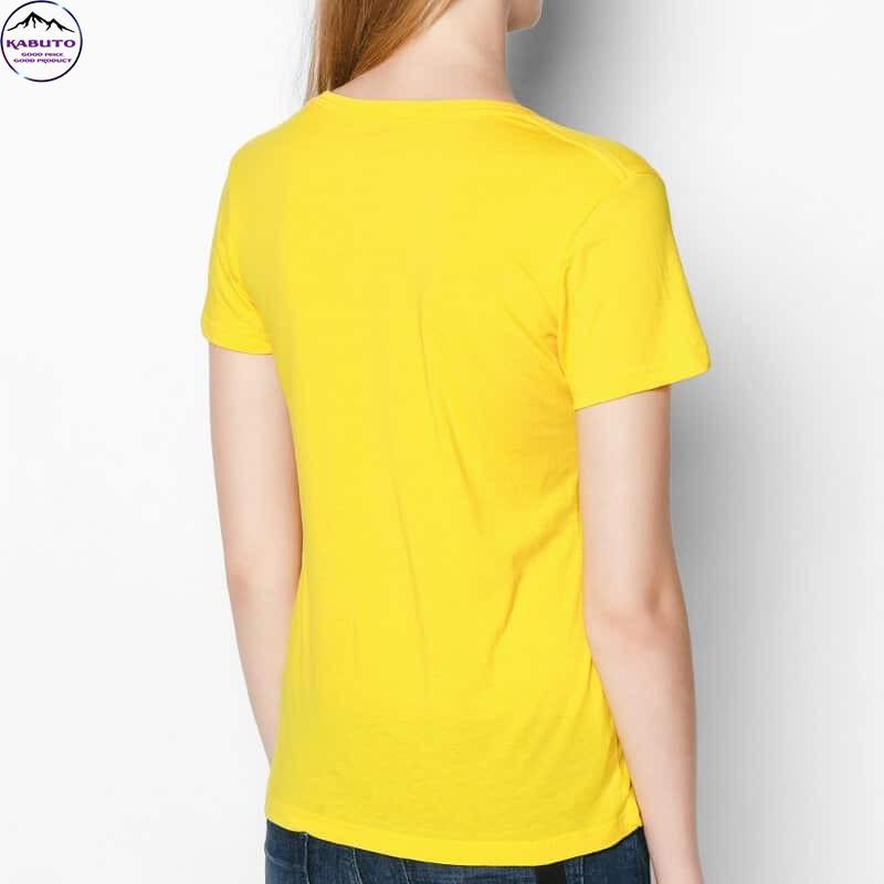 Áo thun trơn Kabuto màu vàng
