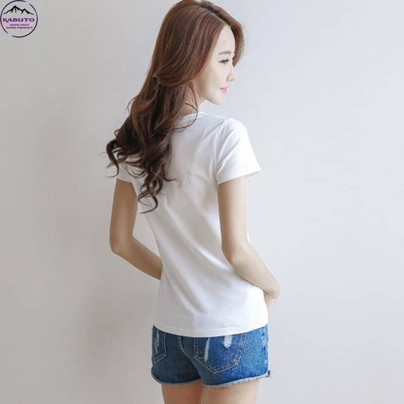 Áo thun trơn nữ màu trắng