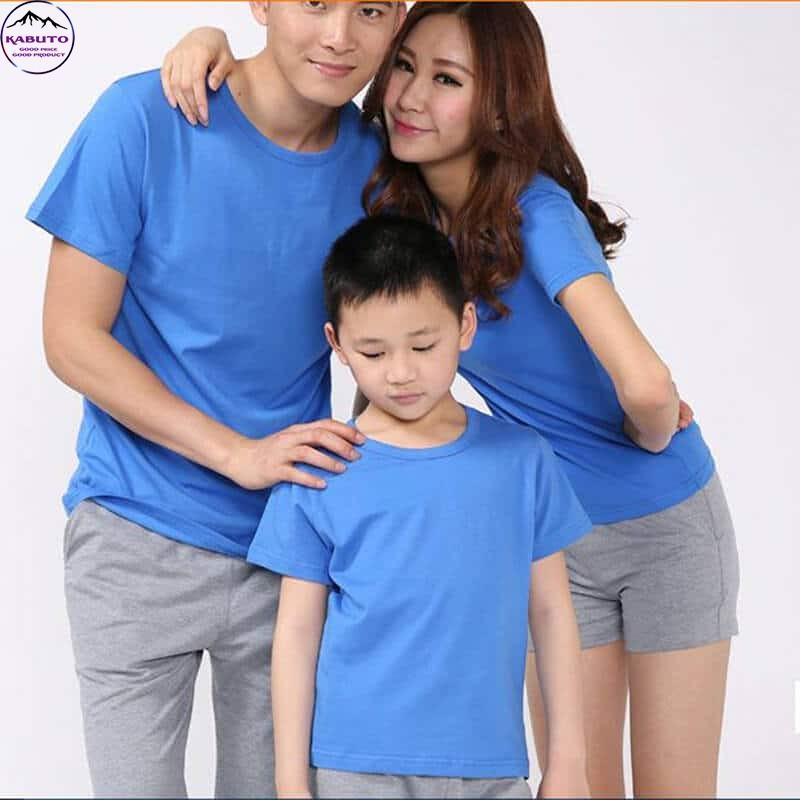 Áo thun xanh trơn Kabuto dành cho gia đình
