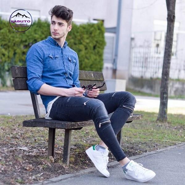 Áo bò quần jean slimfit