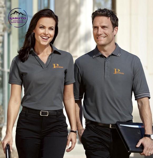Áo thun đồng phục cho nhân viên màu xám