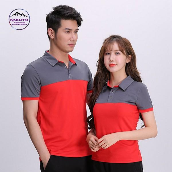 Áo thun đồng phục màu đỏ xám