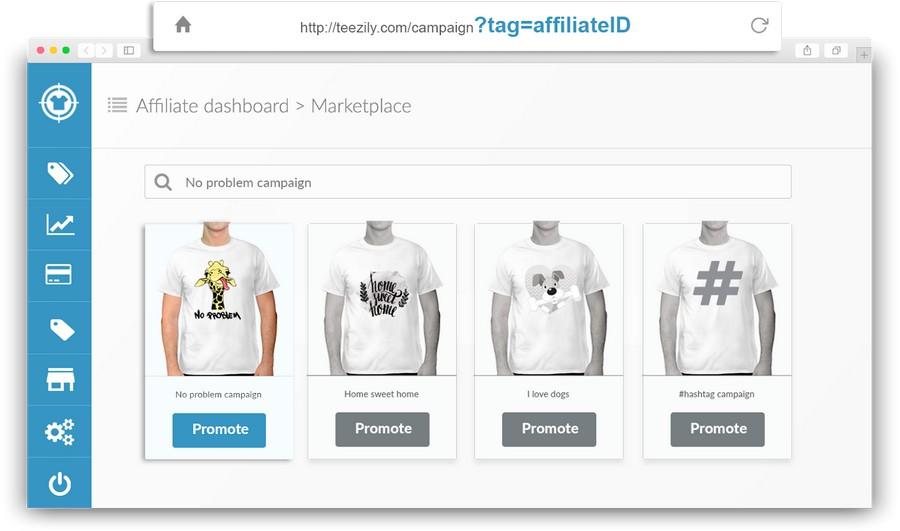 Nền tảng bán áo phông online Teezily