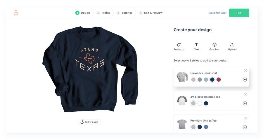 Thiết kế và bán áo thun online