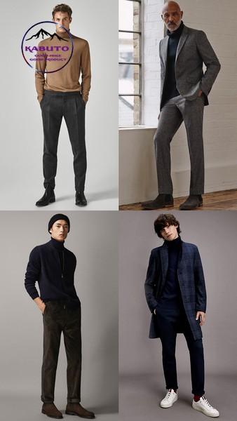 Kết hợp áo thun dài tay nam cùng bộ vest nam
