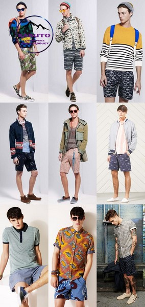 kết hợp áo thun với quần short nam họa tiết