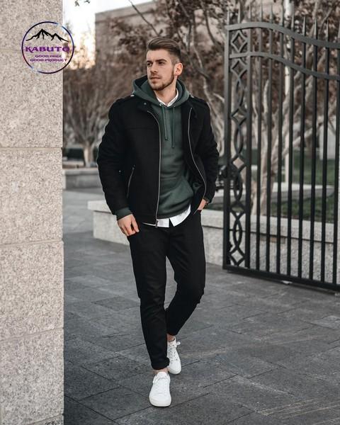 phối áo hoodie với quần jean nam