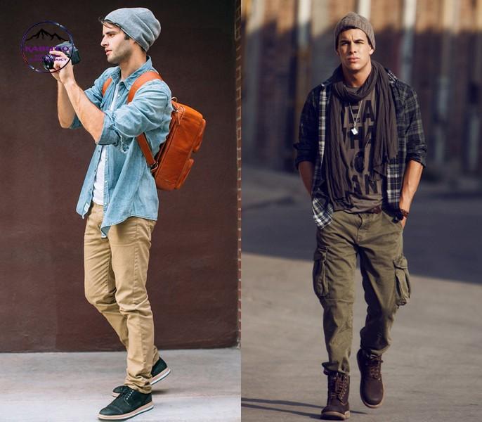Phối áo thun nam phá cách cùng quần jean