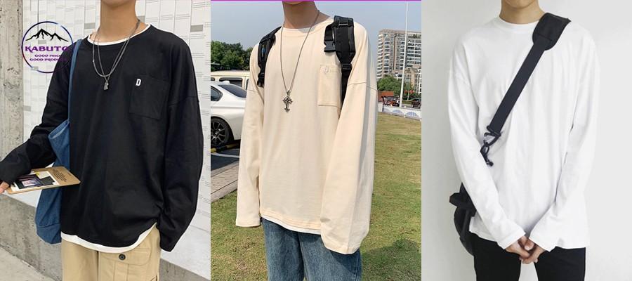 Phối áo thun tay dài với balo hoặc túi xách
