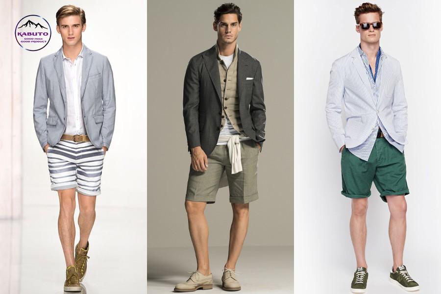 phối áo thun với quần short nam