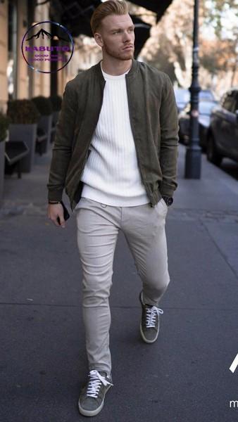 phối đồ với quần jean đen nam