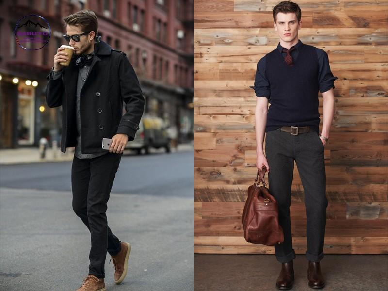 quần jean đen mặc với áo gì nam