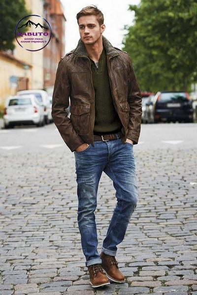quần jean nam mặc với áo gì