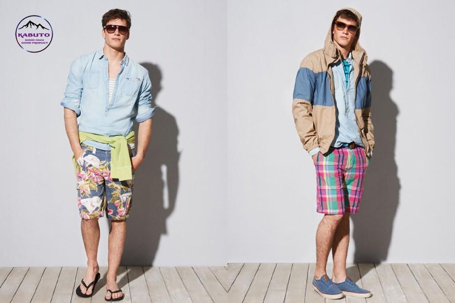 quần short nam họa tiết mặc với áo thun