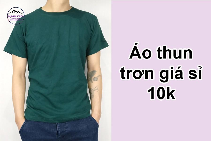 áo thun trơn giá sỉ 10k