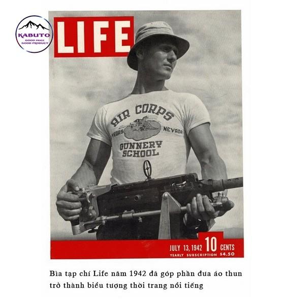 chiếc áo thun trên tạp chí life