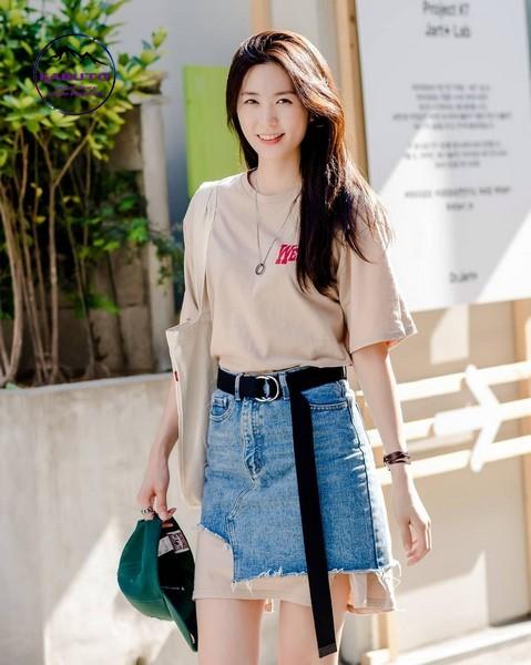áo pull chân váy