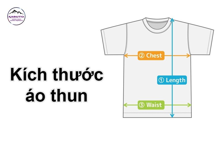 kích thước áo thun