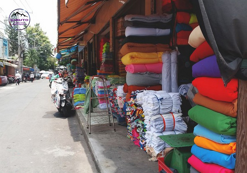 chợ bán vải ở tphcm