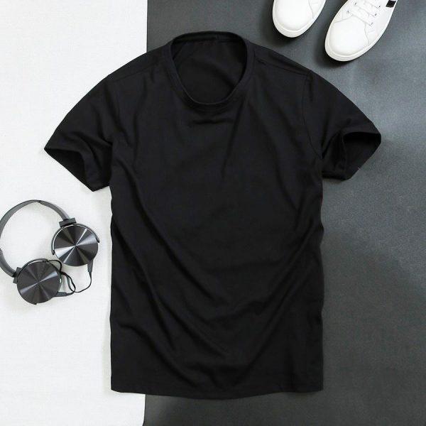 áo thun trơn màu đen