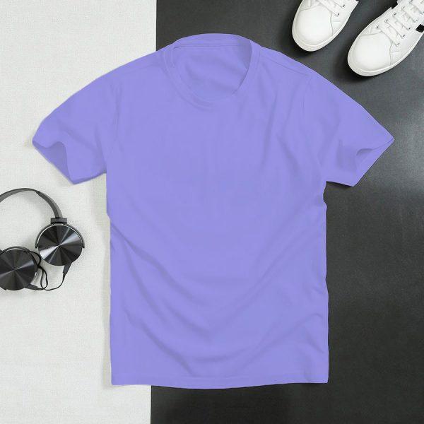 áo thun trơn màu tím nhạt