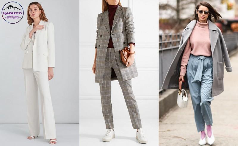 quần tây nữ kết hợp áo blazer sang trọng